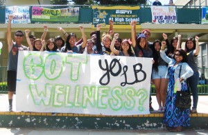 KGA members gather at lunchtime for KGA's Wellness Rally at Poly High School