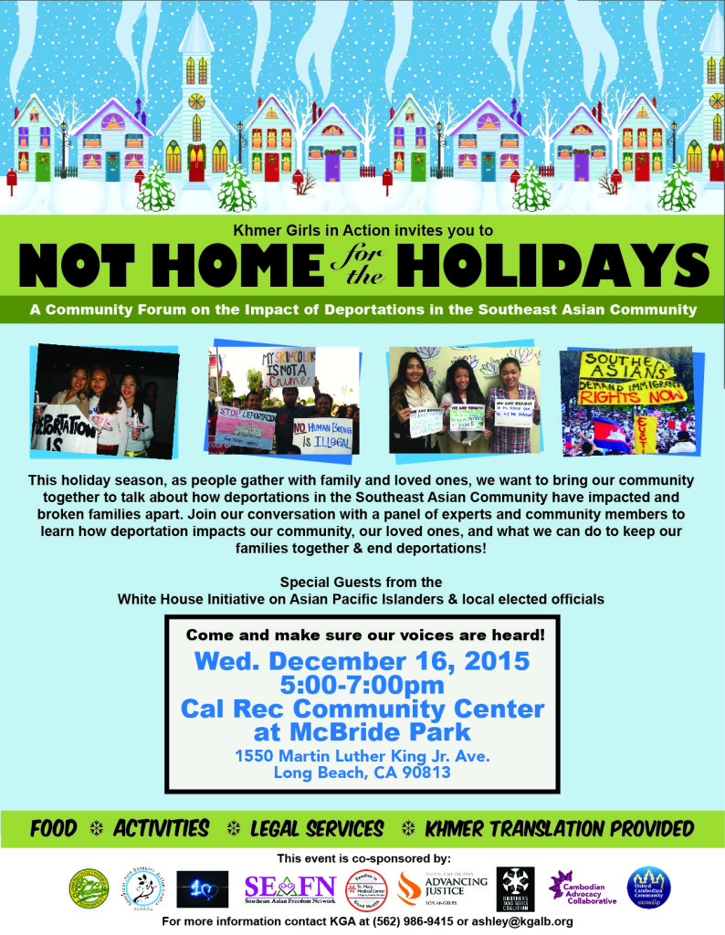 Not Home for the Holidays Community Forum 2015