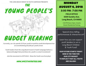 Youth Budget Hearing Front